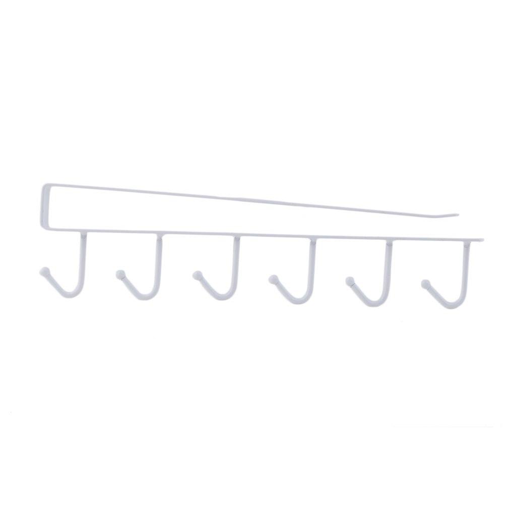 U Type Design 6 Hook Rack Bathroom Kitchen Organizer Seamless Hanging Multi Hooks Wine Coffee Cup Storage Holder Dishes Racks