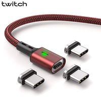 Contrazione T03 Magnetica Cavo di Ricarica USB di Tipo C Cavo per Xiaomi mi 9 Oneplus 3A Rapido Tipo di Carica-C USB C Cavo del Caricatore Magnetico