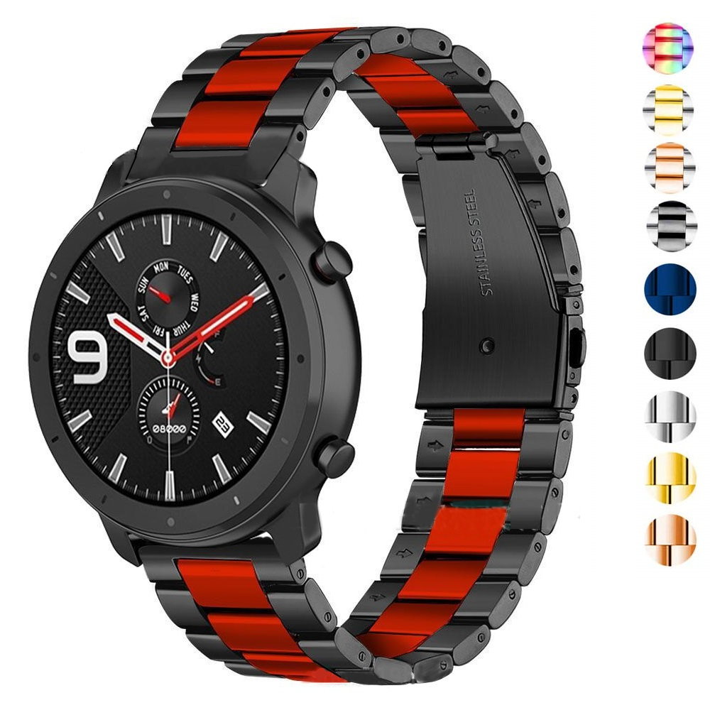 For Galaxy Watch Active Bands 20mm 22mm Band Metal Strap For Samsung Gear S3 Frontier/Classic/Galaxy Watch 46mm/Active2 Correa