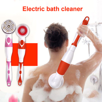 Automatic Shower Brush  4 in 1 Multifunctional Electric Bath Cleaning Massage Brush Waterproof Anti-slip Shower Spa Tool 1