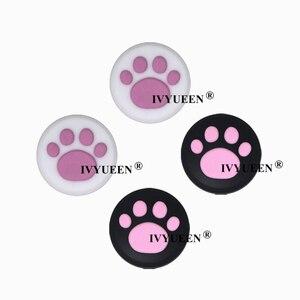 Image 5 - IVYUEEN 4 sztuk silikonowe nakładki na przyciski pokrywa dla przełącznik do nintendo NS Lite Joy Con gałka analogowa czapki skóry dla JoyCon uchwyt joysticka