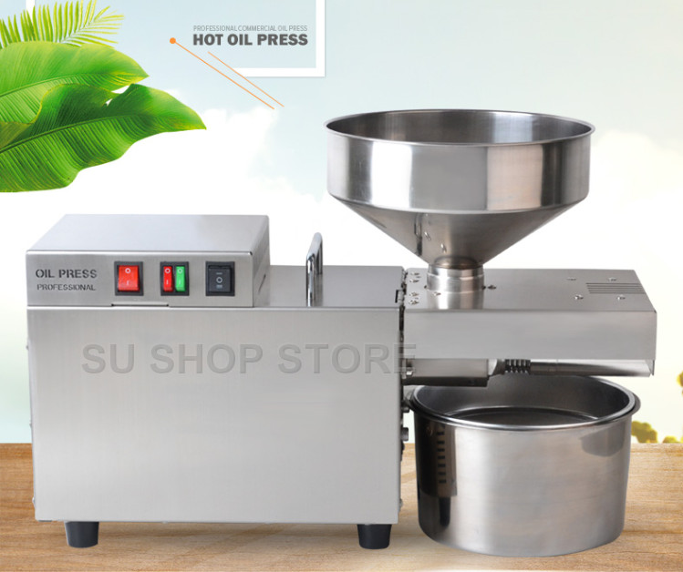 Stainless Steel Automatic Oil Machine, Small Commercial Oil Press, Hemp Coconut Oil Extractor Machine Oil Presser,S9