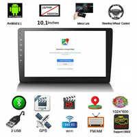 10,1 pulgadas Android 8,1 Bluetooth Wifi Gps navegación Quad-Core coche Radio Video Audio Multimedia Mp5 jugador