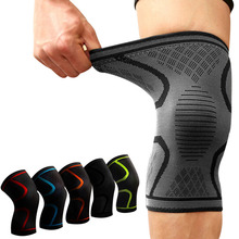 1PCS Fitness Running Cycling Knee Support Braces Elastic Nylon Sport Compression Knee Pad Sleeve for Basketball Volleyball cheap Aolikes Adult Nylon latex silk spandex Silicone A-7718 Compression knee pads S M L XL XXL XXXL Black Blue Red Green Orange Pink Black with Grey