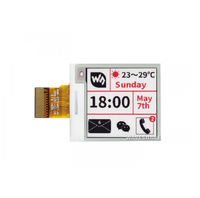1.54inch e-Paper (B) 200x200 Three-color Red Black White E-Ink Raw Display Panel No PCB No Backlight SPI   Ultra Low Consumption