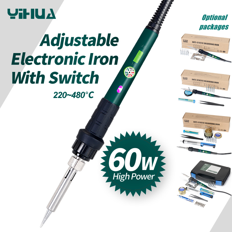 110V 220V Optional Welding Soldering Iron 60W YIHUA 947-III Set For Kit With Temperature Control Switch
