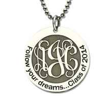 Personalized Monogram Necklace 925 sterling silver Chain silver color Choker Custom Initials Pendant Necklace Women Jewelry 2019 ailin freeshipping personalized mo in rose gold color custom made 3 initials circle block monogrammed necklace choker with chain
