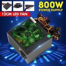 800W PCI SATA 220V ATX 12V Gaming Alimentation PC 24Pin/Molex/Sata 12CM VENTILATEUR LED Ordinateur Alimentation Pour PC De Bureau