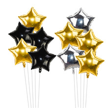 5Pcs/lot 18inch Gold Silver Foil Star Air Helium Balloon Baby Shower Kids Birthday Party Wedding Engagement Balloons Decoration star 5pcs 18inch foil star balloon wedding decoration silver gold heart balloons birthday baby shower wedding party suppl