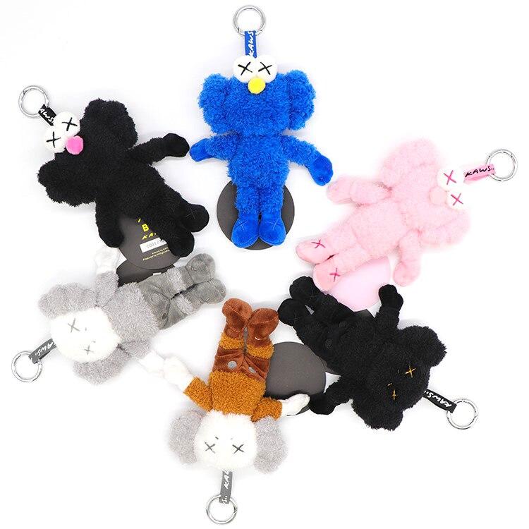15cm ins Sesame Street Tide Brand BFF Doll  Plush Pendant School Bag Backpack Charm Keychain for gift dropping