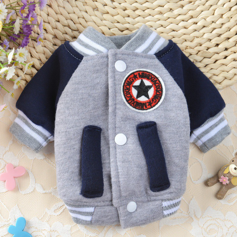 Comfortable Winter Velvet Dog Clothes Dog Button Coat Clothing Apparel Warm Costume Pet Sweater Outdoor Windproof Jacket