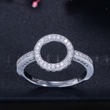 2019 new fashion halo 925 sterling silver ring for girl lovers love party gift  jewelry bulk sell moonso R5466