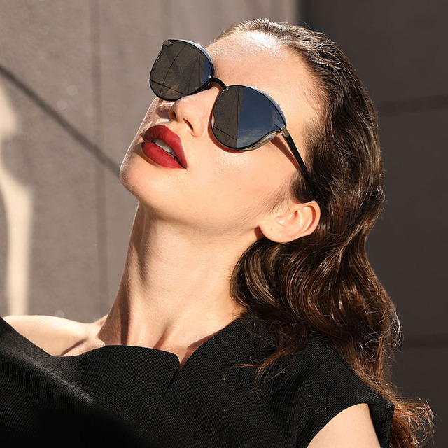 Fashion Polarized Women Sunglasses Round Sun Glass Ladies Lunette De Soleil Femme 2