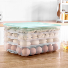 Creative Egg Fish Storage Box Food Container Dumpling Transparent Fresh Frozen Plastic Kitchen Helper