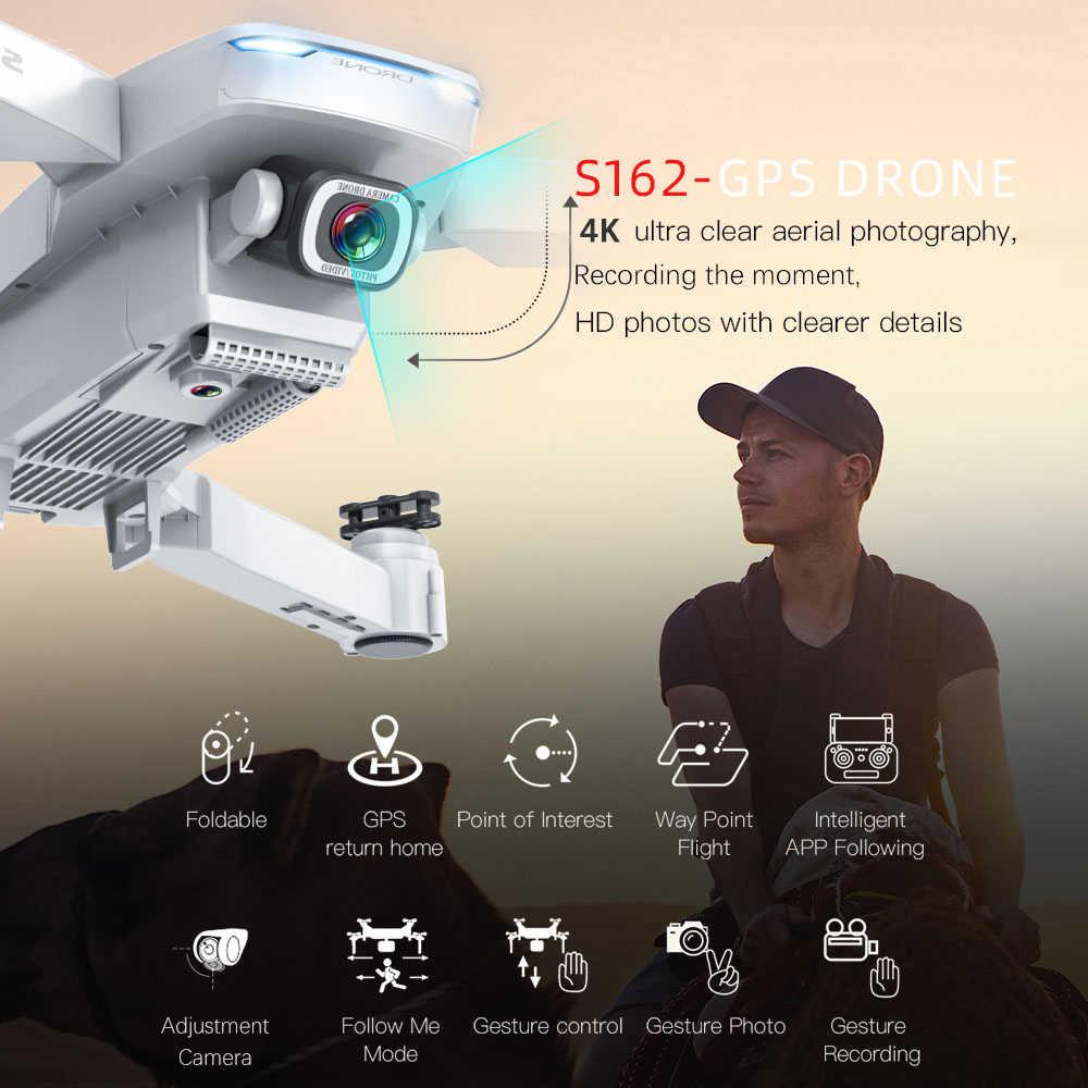GoolRC S162 RC الطائرة بدون طيار مع كاميرا لتحديد المواقع 4K 5G واي فاي لفتة صور فيديو MV FPV أجهزة الاستقبال عن بعد اتبعني لعب بدون طيار VS S167 SG907 درون