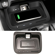 Storage-Box Wireless-Phone-Holder for Toyota RAV4 Center-Console Charging-Plate QI Car