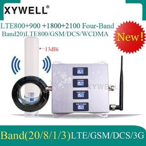 Усилитель сотовой связи 4g 800/900/1800/2100 МГц, четырехдиапазонный усилитель сотовой связи, GSM усилитель мобильного сигнала 2G 3G 4G LTE, сотовый ретран...