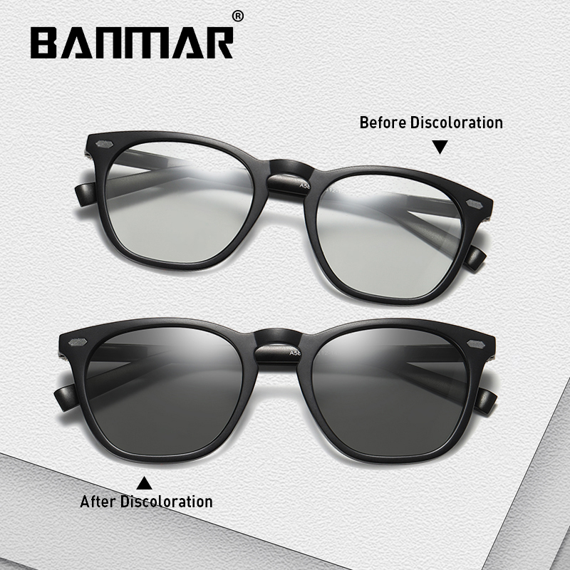 BANMAR Driving Polarized Photochromic Sunglasses Men Chameleon Glasses Men Sunglasses Driver Goggles oculos lentes de sol hombre in Men 39 s Sunglasses from Apparel Accessories