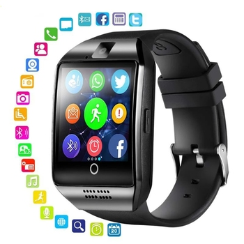 2018 good selling bluetooth smart watch android 5 1 ram 512 rom 4g support sim card 3g wifi camera 0 3 mp sim card skype ios Bluetooth Smart Watch Q18 Smartwatch Support Camera SIM TF Card Slot Fitness Activity Tracker Sports Watches For Android IOS