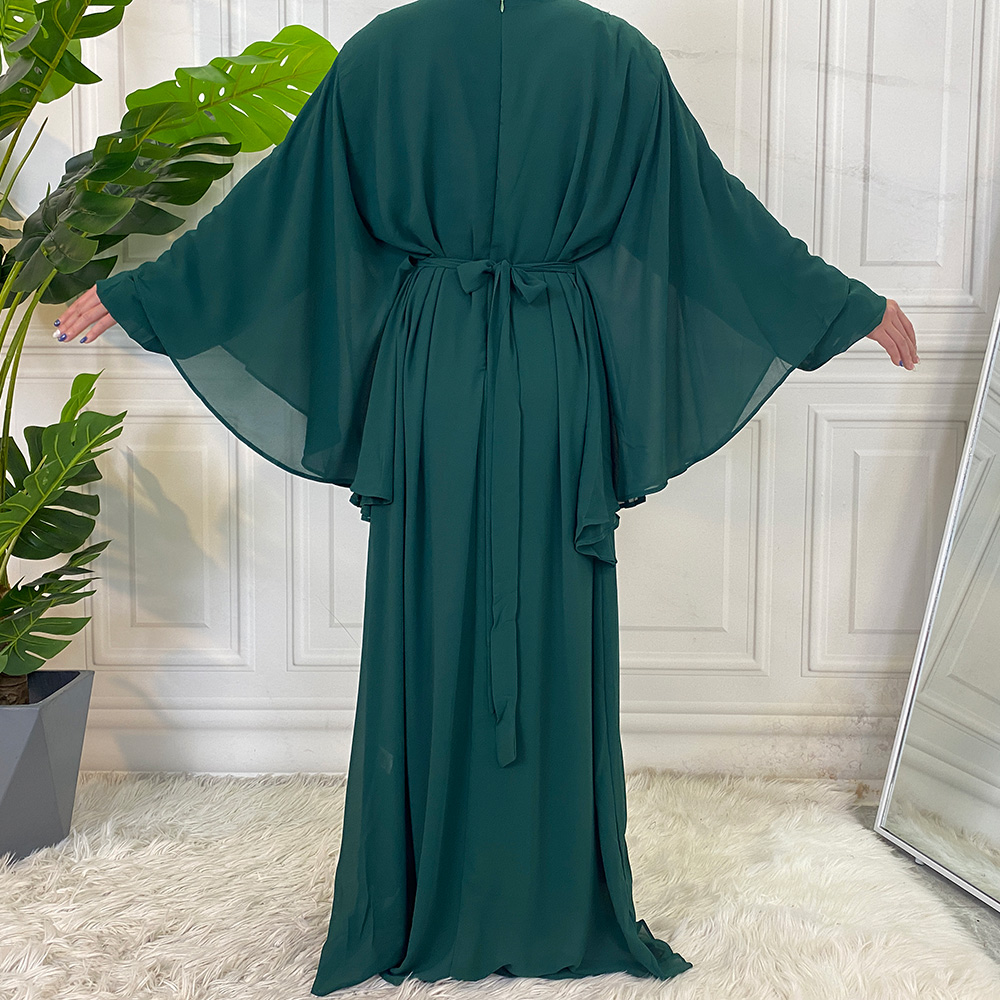 Middle East Fashion Dubai Abaya Muslim For Women Hijab Dress Caftan Turkey Kaftan Ramadan Arabic Islamic Clothing Modest Robe 6