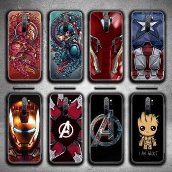 Marvels Iron Man Superhero Phone Case for Redmi 9A 8A 7 6 6A Note 9 8 8T Pro Max Redmi 9 K20 K30 Pro image