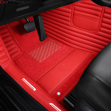 цена на Custom made car floor mats for honda accord 2003 2007 crv 2008 stream civic 2008 city 2010 fit 2014 jazz accessorie rugs carpet