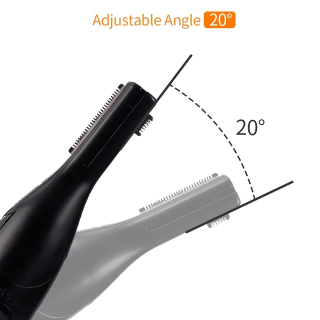 Electric Eyebrow Trimmer Threading Knife Eyebrow Shaver R-Type Blades Cleaning Hand Armpit Bikini Hair Adjustable Cutter Heads 3