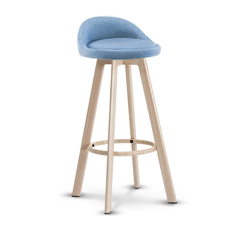 72cm Seat Height Bar Chair Leather Or Fabric Chair With Firm Chair Legs