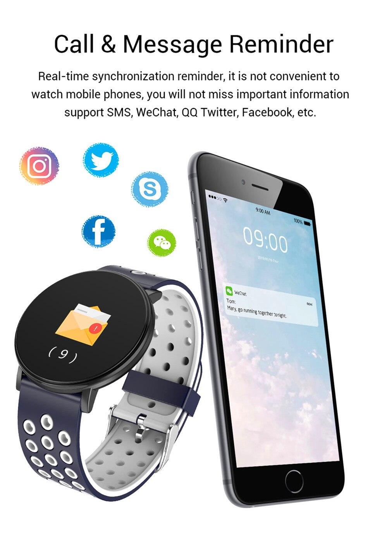 He39f87c299774bc0a0d6f457734e220e1 Smart Fitness Bracelet Blood Pressure Measurement Fitness Tracker Waterproof IP67 Smart Band Watch Heart Rate Monitor Pedometer