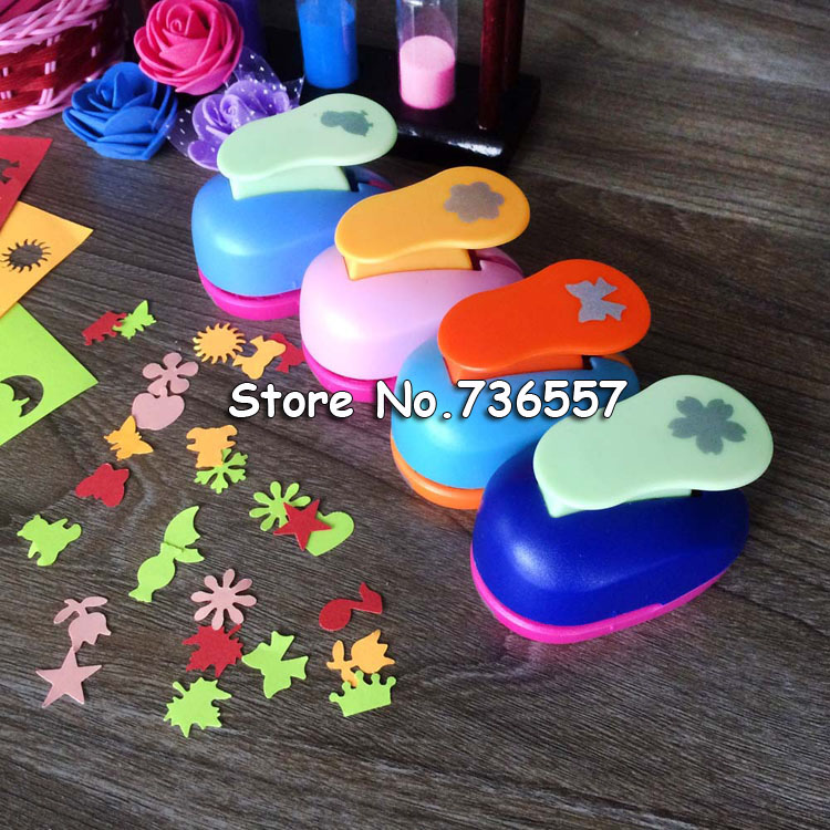 Free Ship Flower Furador 5/8'' 1.5cm Diy Paper Cut Eva Foam Maker Puncher Scrapbooking Labor Saving For Kid Hole Punch
