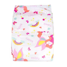 8 Pcs Size M/L Adult Baby Diapers Printed Unicorn And Rainbow Diaper For Adult Baby Girl, For Adult Baby Boy