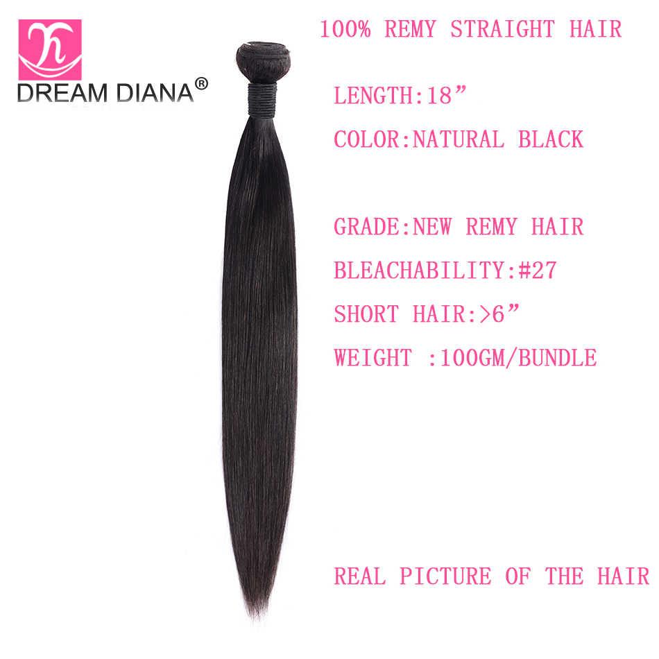 """DreamDiana перуанские шелковистые прямые волосы 4 пучка 8 """"-30"""" L remy волосы натуральный цвет 100% человеческие волосы для наращивания экспресс-доставка"""
