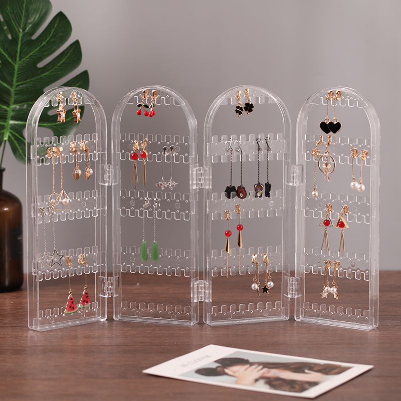 Earring Display Stand Transparent Foldable Jewelry Rack Necklace Organizer Jewelry Display Rack Jewelry Organizer Earring Holder