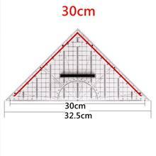 14cm/20cm/30cm desenho triângulo régua multi-função desenho design régua com alça transferidor medição régua artigos de papelaria