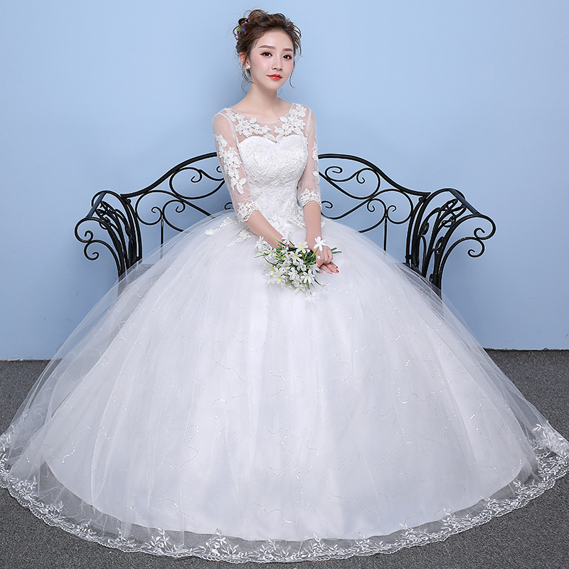 Wedding Dress Princess Dream Plus Size Wedding Dresses Bride Satin Ball Gowns Lace Up Dresses