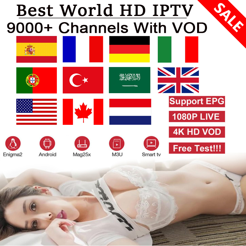 Iptv Subscription M3U IPTV For France Spain Italy Germany Netherlands Turkey UK IPTV Channel With Xxx Smart Android TV Box IPTV