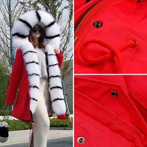 Image 5 - จริงขนสุนัขจิ้งจอกเสื้อแจ็คเก็ตแฟชั่นฤดูหนาวหญิงยาว Fox FUR COLLAR JACKET หญิง WARM Fox FUR พายเอาชนะสุภาพสตรี