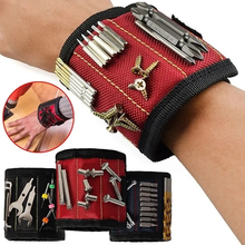 Magnetic Bracelet Wristband Hand Wraps Tool Bag Adjustable Electrician Wrist Screws Nails Drill Holder Belt