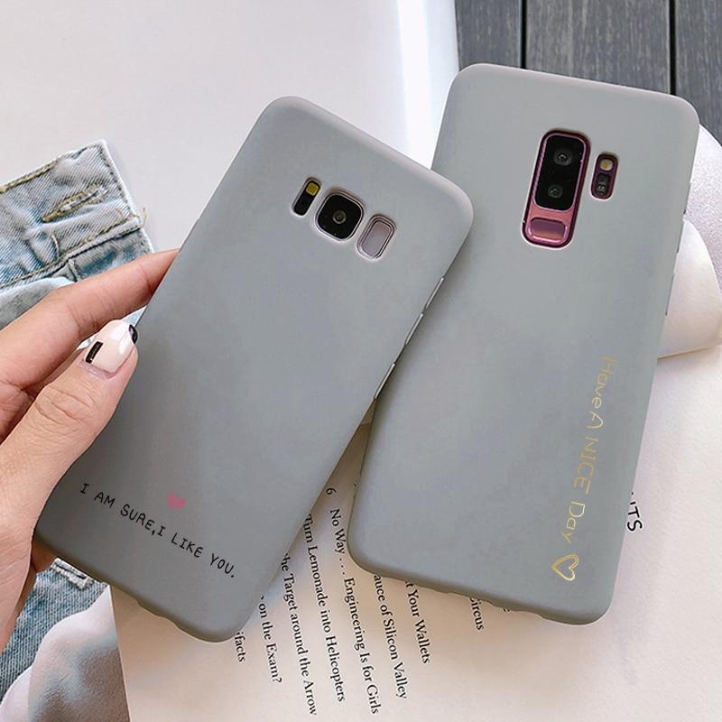 Cover For Samsung Galaxy A50 A40 A70 A10S A20 A20E A20S A30 A60 M20 M30 M30S S6 S7 Edge S8 S9 S10 Plus Silicone Gray Matte Case