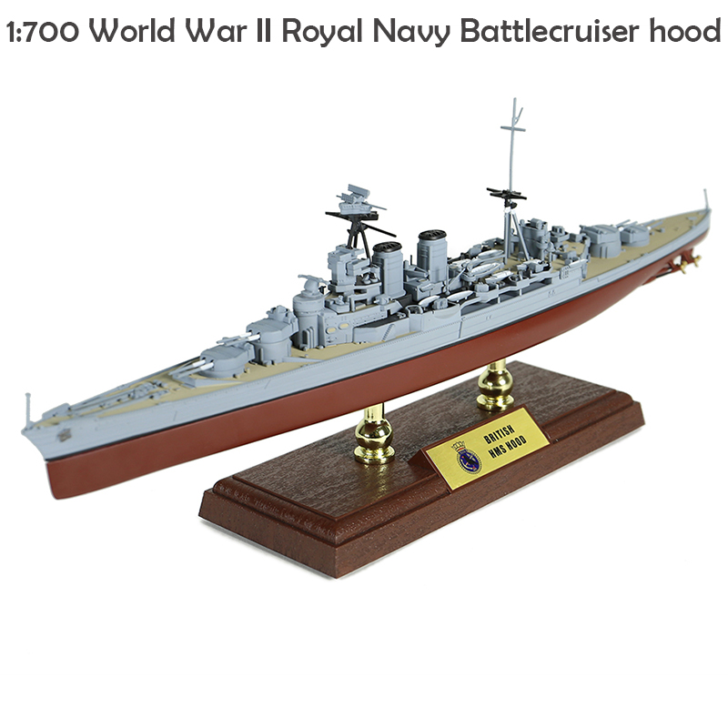 Fine  1:700  World War II Royal Navy  Battlecruiser Hood  Simulation Product  Alloy Collection Model