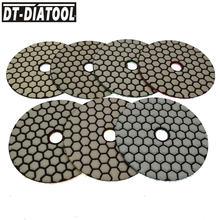 7 шт 100 мм Смешанные grits гибкие сухие Алмазные полировальные