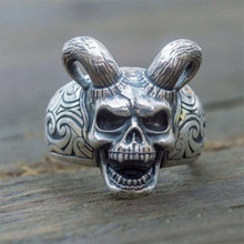 Skull-Sheep-Head-Ring Domineering Devil Sharp Jewelry Gifts Punk Retro-Style Trendy Men