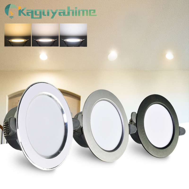 Kaguyahime LED Downlight 3000k 4500K 6000K Round Spot Light 5w 3w Indoor Recessed Lamp AC 220V Gold Silver Surface LED Spotlight