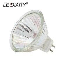 Halogen Bulbs Spot-Light MR16 Lamp GU5.3 10PCS 12V LEDIARY Cup-Shape Quartz-Glass Clear