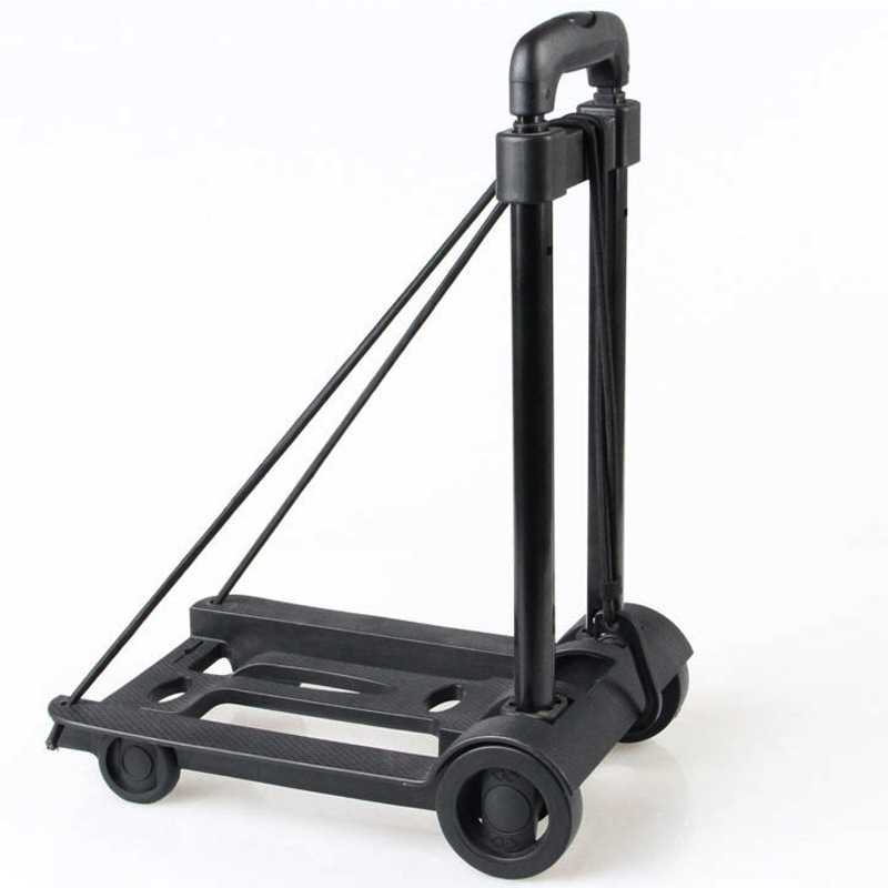 Carrito de equipaje plegable, carrito portátil, carrito de viaje, remolque, luz de la carretilla, carrito de mano ajustable, carrito de compra de viaje para el hogar