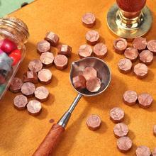 100 unids/bolsa sellado clásico cera tableta píldora cuentas Octágono sello de cera para sobre la fiesta de la boda de estampado de cera de sellado