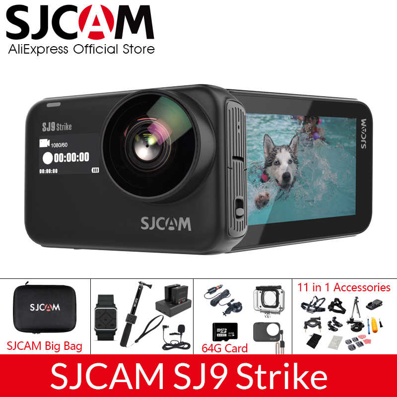 SJCAM SJ9 Strike Supersmooth Gyro Tahan Air 4K 60fps Action Camera Pengisian Nirkabel Streaming Live Wifi Olahraga Kamera Video