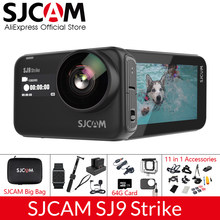 SJCAM SJ9 grève gyroscope Supersmooth étanche 4K 60fps caméra d'action sans fil charge en direct Streaming Wifi sport caméra vidéo(China)