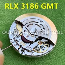 Китайский клон RLX GMT 3186 автоматический механический механизм Мужские Часы Движение синий баланс