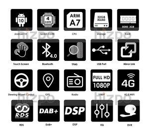Image 5 - Автомобильный мультимедийный плеер, Магнитола на Android 10, с GPS Навигатором, для GMC, Chevrolet, Chevy, Yukon, Tahoe, Sierra надлежащего качества, 2 + 32